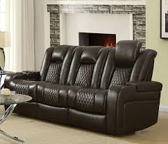 Leather Like Sofa Power Sofa In Brown Leather Like Upholstery By Coaster 602304p
