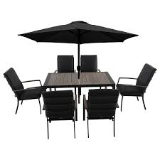 6 seater outdoor dining table lg outdoor milan 6 seater garden dining table and chairs set with