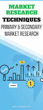 market research techniques primary and secondary market research