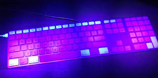what does uv light do mac keyboard under a uv light why do some keys glow differently