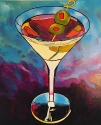 martini glass acrylic painting christine farenholtz harbourfront library 90 commercial street
