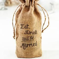 burlap wedding favor bags eat drink and be married burlap wine bag wine theme wedding