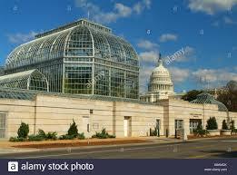 Us Botanical Gardens Dc Usa Washington Dc U S Botanic Garden Conservatory And U S Capitol