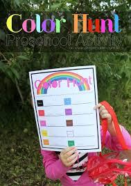 color hunt outdoor preschool game printable loves glam