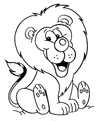 lion outline coloring page free download