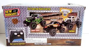 rc monster jam trucks amazon com new bright rc radio control monster jam truck monster