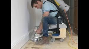 Lagler Hummel Floor Sander by Floor Sanding With Carke B2 Dust Free Youtube
