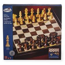 pavilion games deluxe wooden chess set toys