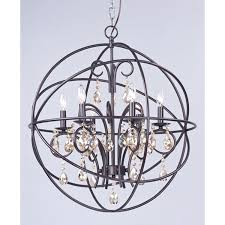 Maxim Chandeliers Maxim Lighting International Orbit Oil Rubbed Bronze Six Light