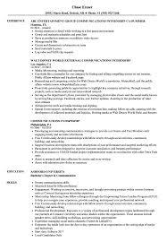 resume exles for media internships communications internship resume sles velvet jobs