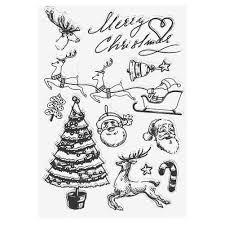 christmas cartoon transparent silicone seals diy stamp sheet album
