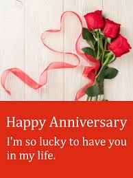 happy anniversary cards ribbon happy anniversary card birthday greeting