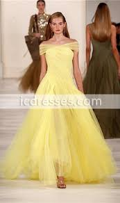 light yellow prom dresses light yellow a line prom dresses off the shoulder pleats floor
