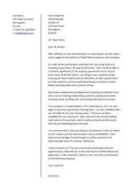Cover Letter Exle Retail Sales cover letter that is appropriate when applying for retail sales