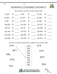 rounding to the nearest ten and hundred worksheets worksheets