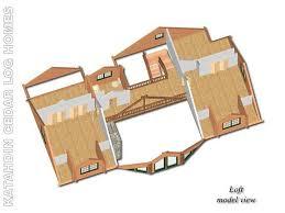 Log Houses Plans Lakeview Cedar Log Home Floor Plan Katahdin House Plans