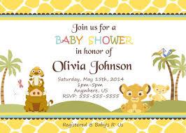 simba lion king shower invitations baby shower custom