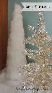 Faux Fur Christmas Tree Skirt Thrifty Parsonage Living Diy Faux Fur Christmas Projects Fur
