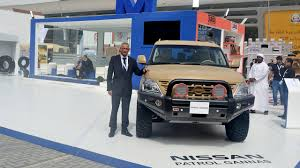 nissan patrol super safari 2016 al masaood automobiles showcases nissan vehicles with military