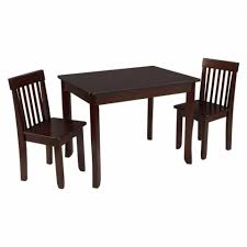 Dining Table And 2 Chairs Avalon Kids U0027 Table Ii U0026 Chair Set Espresso Kidkraft
