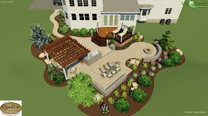 Design Patio Online Free Landscape Design Of A Two Tier Stamped Concrete Patio And Deck
