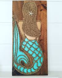 mermaid wall wood panel m