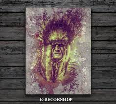 American Indian Decorations Home by American Indian Canvas Art Print Native American Chief Canvas