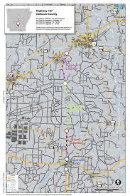 Dallas County Map Highway 167 Calhoun County Connecting Arkansas Program
