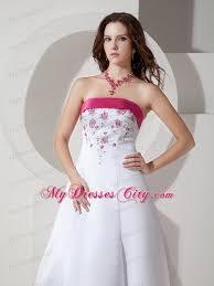 pink embroidered wedding dress pink hem brush satin wedding dress with embroidery