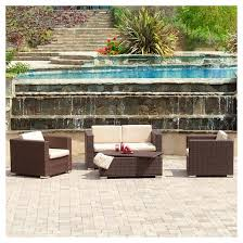 Christopher Knight Patio Furniture Reviews Christopher Knight Home Murano 4 Piece Wicker Patio Sofa Set Target