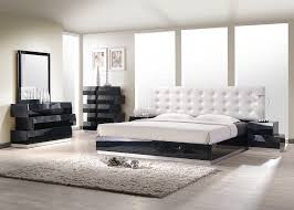 King Platform Bed Set Milan Bedroom Set Black Buy At Best Price Sohomod