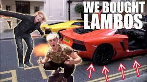logan paul car jake paul and logan paul bought the lamborghini youtube