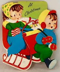 145 best children having fun outside vintage christmas cards