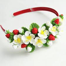 handmade hair headband handmade flowers flowers children hair accessories