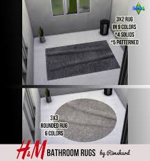 Bathroom Rugs Sets H U0026m Bathroom Rug Sets Rimshard Shop Sims 4 Cc Downloads