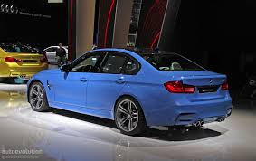 Bmw M3 Blue - new bmw m3 is blue all over in detroit live photos autoevolution