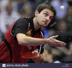 Table Tennis Championship German National Table Tennis Player Timo Boll Performs His Skills