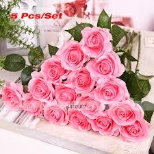 blumen geschenke zur hochzeit shop rosa valentinstag geschenke echt touch blumen