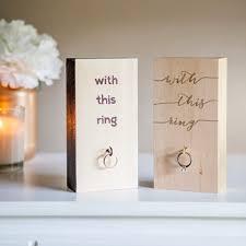 wedding ring holder make your own wooden block wedding ring holder