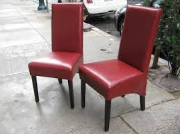 Red Parsons Chairs Uhuru Furniture U0026 Collectibles May 2009
