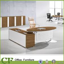 Curved Office Desk by China L Shaped Curved Office Desk With Metal Modesty Panel Photos