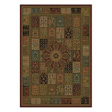 shaw accent rugs shop shaw living 47 x 64 multi ishmael accent rug at lowes com