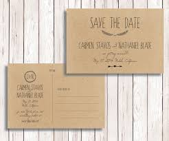 Rustic Save The Date Diy Rustic Save Date U2013 Onepaperheart U2013 Stationary U0026 Invitations
