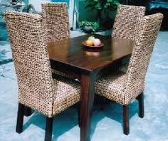 Woven Dining Room Chairs Woven Furniture Water Hyacinth Dining Chair In Set Combined With