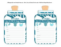 baby shower invitations for boy boy printable bottle baby shower invitations babies milk bottle