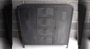 Chaise Industrielle Métal Noir Antique Déco Industrielle Armoire Métallique Style Industriel Finition Noir Ancien Meubles