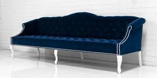 www roomservicestore com mademoiselle sofa in navy velvet