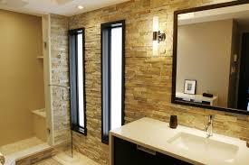 beige tile bathroom ideas hanging lamps shower with glass door