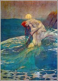 Mermaid Fairy Dramatic Mermaid And Man Fairy Tale Digital Vintage