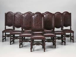 Antique Leather Armchairs For Sale Set Of 10 Spanish Leather Chairs For Sale Leather Club Chairs